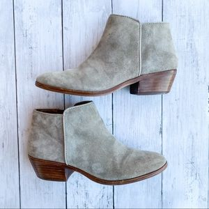 Sam Edelman Petty Ankle Bootie Tan Suede Size 4.5